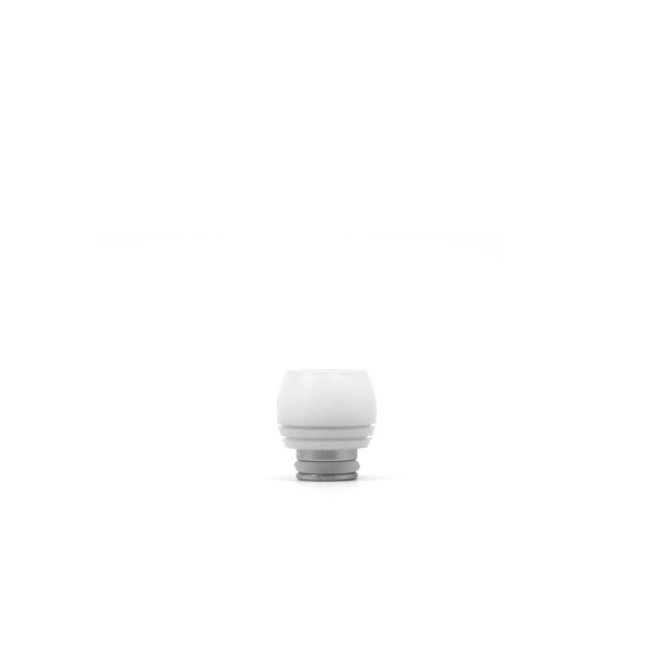 Drip Tip 510 Acier & POM Drum blanc